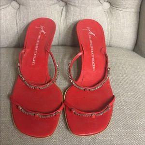 Vintage red mules